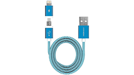 Кабель Lightning + Micro USB MoMax Elite Link 2 in 1 MFi 100cm, фото 1