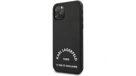 Чехол накладка Karl Lagerfeld Mooth Pu Leather Case для Apple iPhone 11 Pro Max черный, фото 1