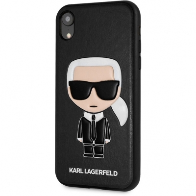 Чехол Karl Lagerfeld PU Leather Iconic Karl Hard для Apple iPhone XR накладка (черный), фото 4
