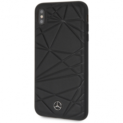 Чехол Merсedes-Benz Twister Hard Leather для Apple iPhone XS Max черный (MEPERHCI65QGL) купить за 750 руб.