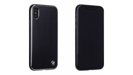 Чехол накладка CG Mobile BMW Signature Brushed Aluminium для Apple iPhone X черный, фото 3