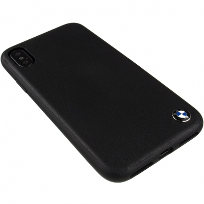 Чехол CG Mobile BMW Signature Genuine Leather для Apple iPhone X черный (BMHCPXGLSC) купить за 990 руб.