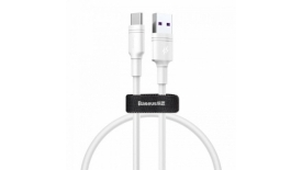 Кабель Type-C/USB Baseus Double-ring quick charge 50cm (белый), фото 1