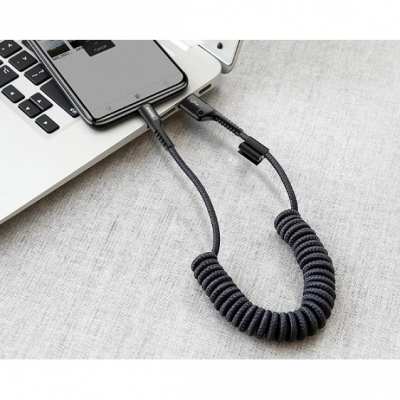 Кабель Baseus Fish Eye Spring Data Cable 100cm Type-C/USB, фото 3