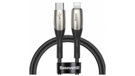 Кабель Type-C/Lightning Baseus Horizontal Data Cable 100cm (черный), фото 1