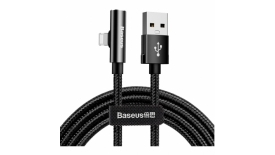 Кабель Lightning Baseus Rhythm Bent Connector Audio and Charging Cable USB For iP120cm (черный), фото 1