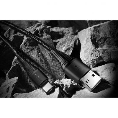 Кабель Rock Hi-Tensile 3A Charge&Sync Round Cable 200cm Type-C/USB, фото 9