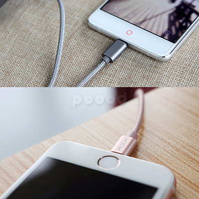 Кабель Rock Metal Micro Cable 100cm micro USB, фото 7