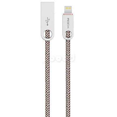 Кабель Rock Cobblestone Charge & Sync Round Cable 100cm Lightning, фото 3