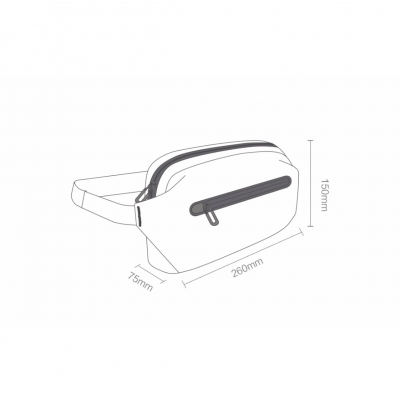 Сумка на пояс Xiaomi 90 Points Xiaomi Functional Waist Bag 2069 (черный), фото 6