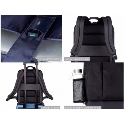 Рюкзак Xiaomi 90 Points Xiaomi Classic Business Backpack (серый), фото 8