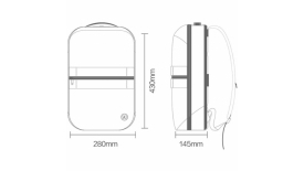 Рюкзак Xiaomi Mi 90 Points Manhattan Business Casual Backpack серый, фото 3