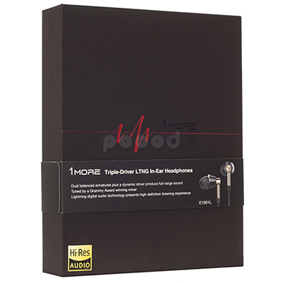 Lightning-наушники 1MORE E1001L Triple Driver LTNG In-Ear Headphones(w), фото 16