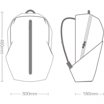 Рюкзак Xiaomi 90 Points Xiaomi All Weather Functional Backpack (черный), фото 9