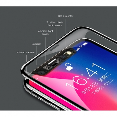 Защитное стекло Baseus Soft PET 3D Silk-Screen Anti-Bluelight для iPhone X, фото 4